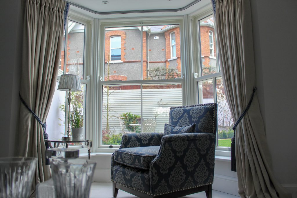 Sash windows in a living room