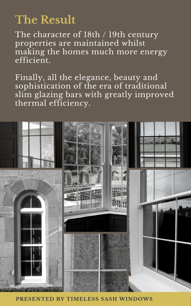 Timeless Sash Windows Slim Glaze System