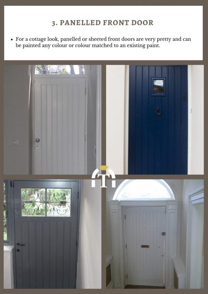 panelled front doors