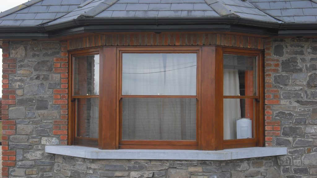 Cedar wood bay window