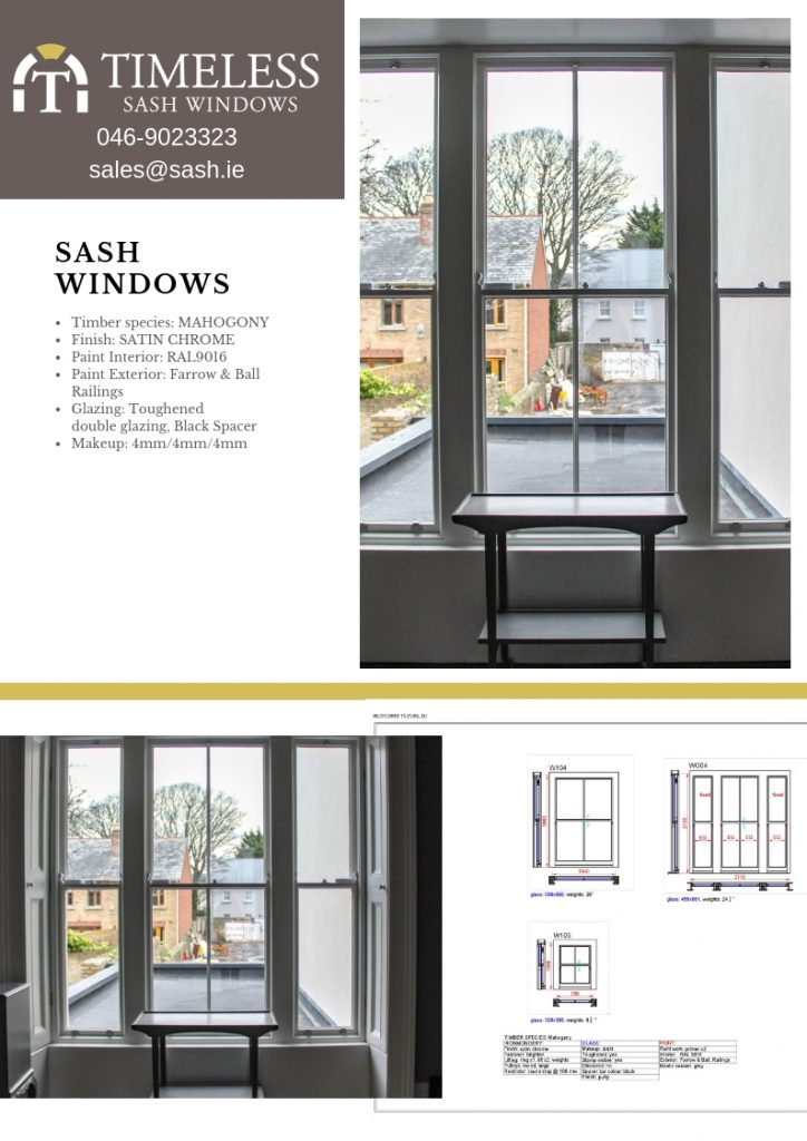 sash windows drawing