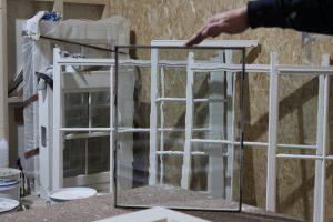 Double glazed cylinder glass