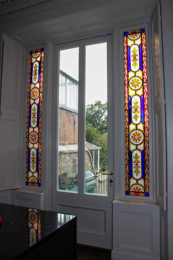 window converted to French doors